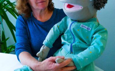 Uporaba terapevtske lutke